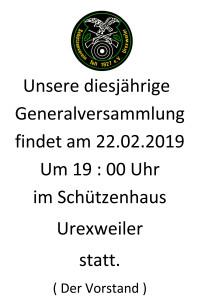 Einladung Generalversammlung
